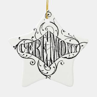 roteiro do casamento da CERIMÓNIA da tipografia do Enfeite Para Arvore De Natal