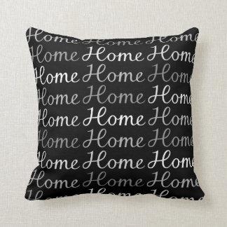 Roteiro Home doce Home - Monochrome Travesseiro