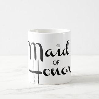 Roteiro retro da madrinha de casamento caneca de café