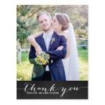 Roteiro rústico que Wedding o obrigado vertical Cartão Postal