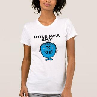 Rotulação preta pequena da senhorita Tímido | T-shirt