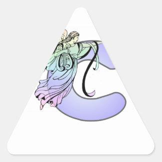 Rotule a luz da inicial do alfabeto do monograma adesivo triângulo