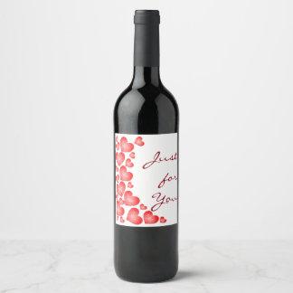 Rótulo De Garrafa De Cerveja Corações do vermelho de Starburst dos namorados