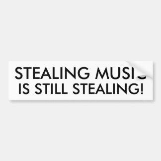 Roubar a música é ainda roubar! adesivo para carro