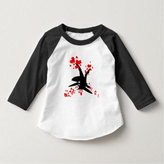 roupa americano da criança do coração da árvore camisetas