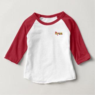 Roupa americano de Ryan 3/4 de t-shirt do Raglan