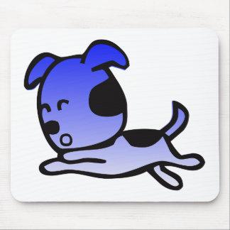 Roupa azul engraçado e mais do cão mouse pad