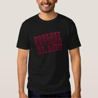 Roupa de rima do calão do Cockney Camiseta
