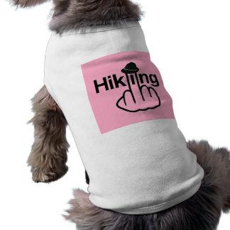 Roupa do cão que caminha o sacudir camiseta