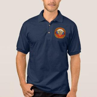 Roupa do emblema do russo t-shirt polo