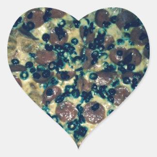Roupa e artigos da pizza do Grunge Adesivo Coração