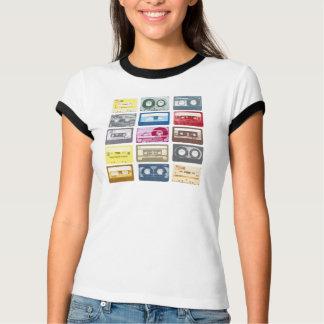 Roupa retro do impressão de Mixtapes T-shirts