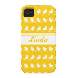 row of white ducks yellow iPhone 4 Case-Mate