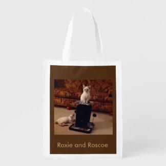 Roxie e saco reusável de Roscoe Sacola Ecológica