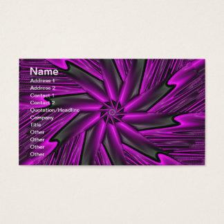 Roxo abstrato cartão de visitas