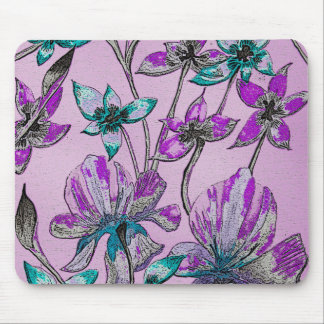 Roxo abstrato de Mousepad do design floral