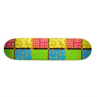 Roxo, amarelo, azul de Lite, verde limão, alaranja Shape De Skate 21,6cm