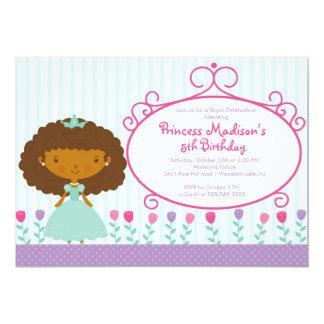 Roxo bonito da princesa convite de aniversário
