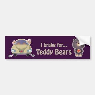 Roxo bonito do urso adesivo para carro