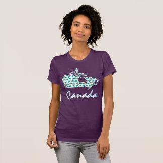 Roxo canadense original da camisa da folha de