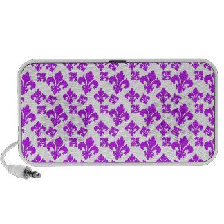 Roxo da flor de lis 4 caixinhas de som para laptop