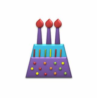 Roxo do bolo de aniversário do arco-íris do partid fotoescultura