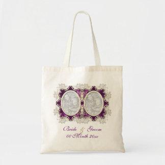 Roxo do casamento vintage bolsa tote