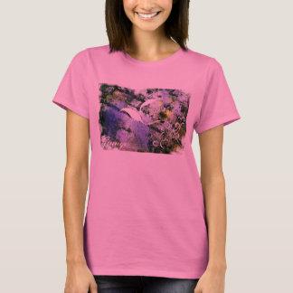 Roxo do design do Grunge T-shirt