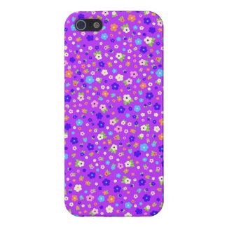 roxo do fundo do em dos pequenas de flores do iPhone 5 capa