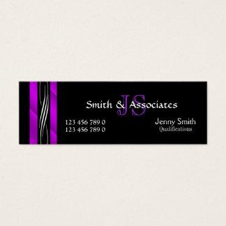 Roxo do monograma do advogado do advogado cartão de visitas mini
