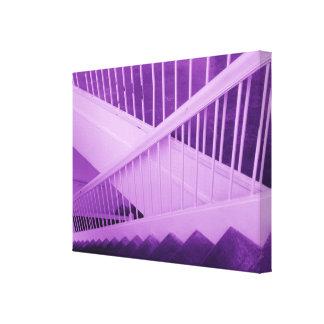 roxo do vão das escadas impressão em tela