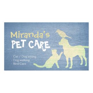 Roxo dos cuidados dos animais de estimação & cartão de visita