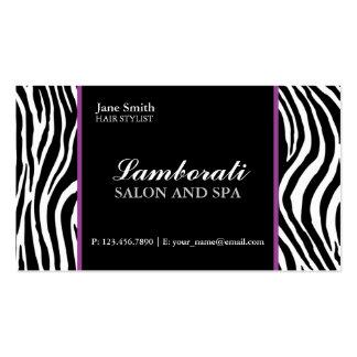 Roxo dos termas do salão de beleza do cabeleireiro cartão de visita