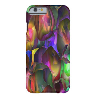 Roxo e floral abstratos pela estrela de Trevor Capa Barely There Para iPhone 6