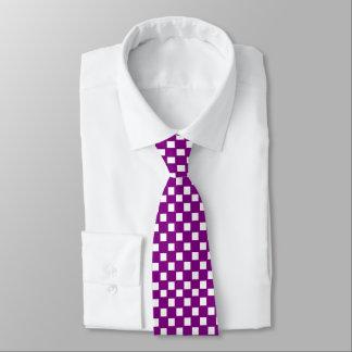 Roxo e laço verificado branco gravata