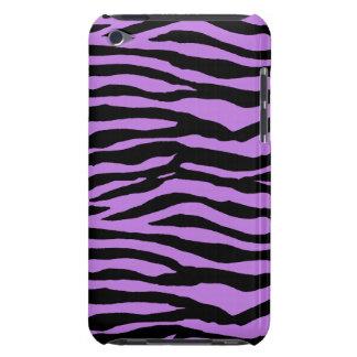 Roxo e listras da zebra capa para iPod touch