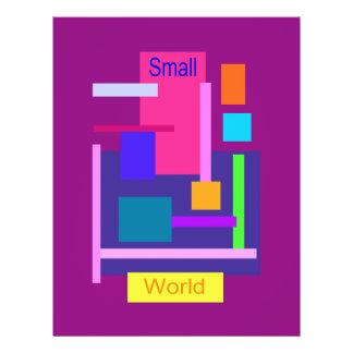 Roxo pequeno do mundo panfletos