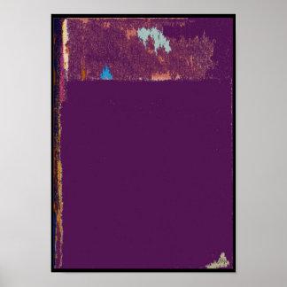 Roxo sobre o poster roxo do abstrato da expressão