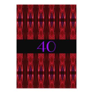 Roxo vermelho do abstrato do aniversário do convite
