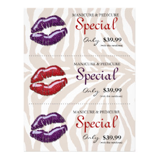 Roxo vermelho lustroso da zebra dos lábios do inse panfleto personalizados