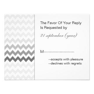 Rsvp cinzento do casamento de Ombre da viga da mod Convites Personalizado