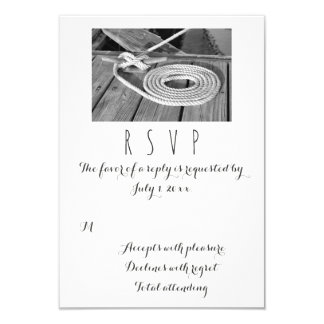 RSVP Wedding náutico Convite 8.89 X 12.7cm