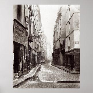 Rua Aumaire, da rua Volta, Paris, 1858-78 Poster