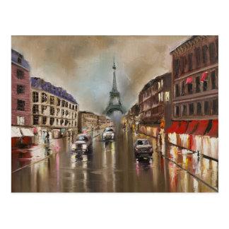 Rua chuvosa de Quet Cartão Postal