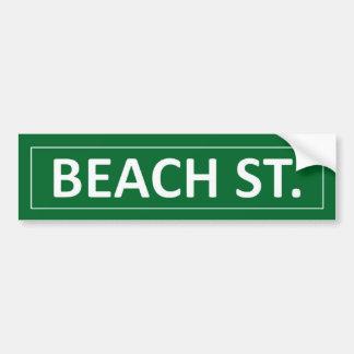 Rua da praia adesivo para carro