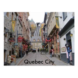 Rua de Cidade de Quebec Cartão Postal
