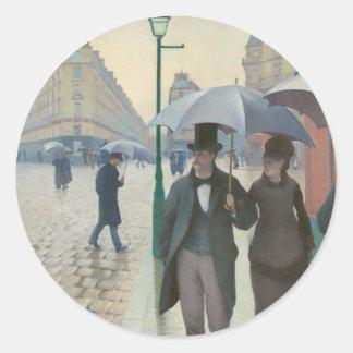 Rua de Paris Temps de Pluie por Gustave Caillebott