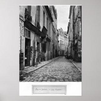 Rua du Jardinet, da passagem Hautefeuille, Poster