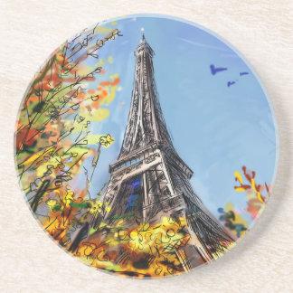 Rua em Paris - ilustração Porta-copos