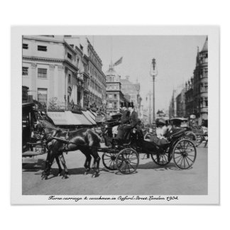 Rua Londres 1904 de Oxford, Inglaterra Reino Unido Poster